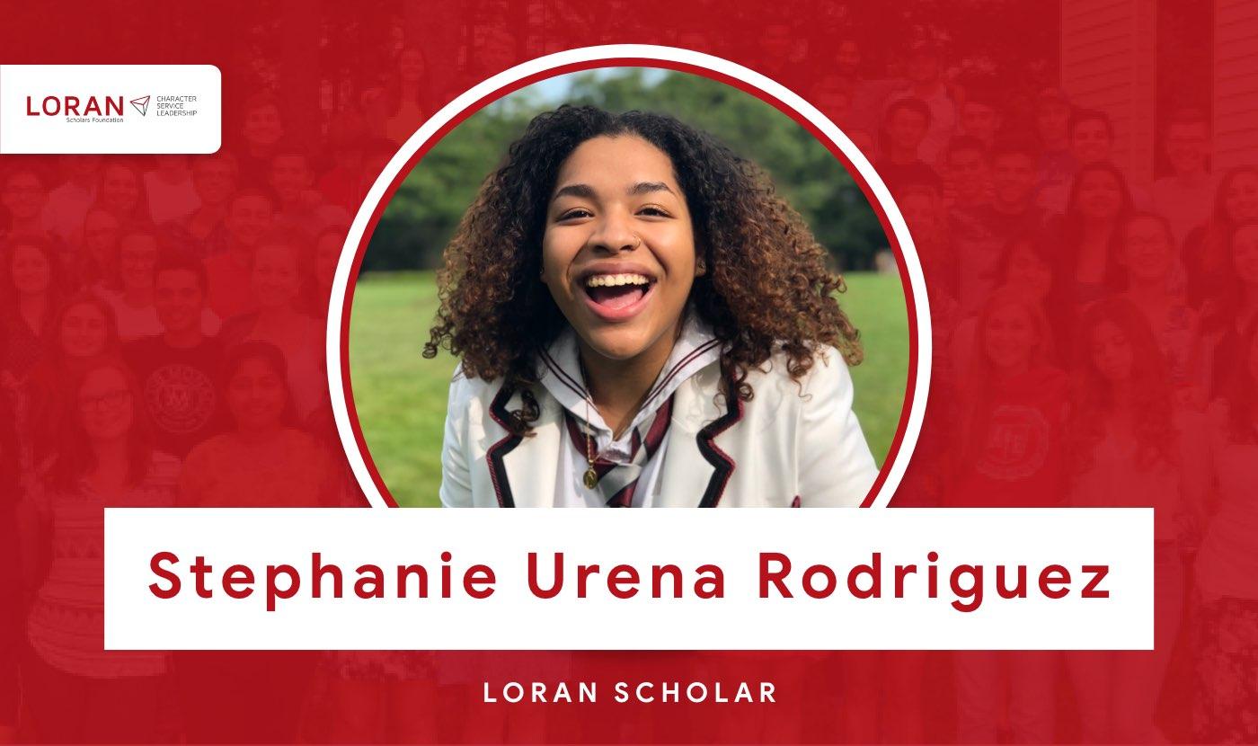 2021 Loran Scholar Stephanie Urena Rodriguez
