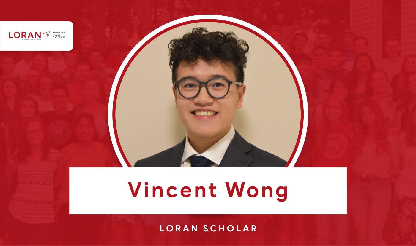 2021 Loran Scholar Vincent Wong