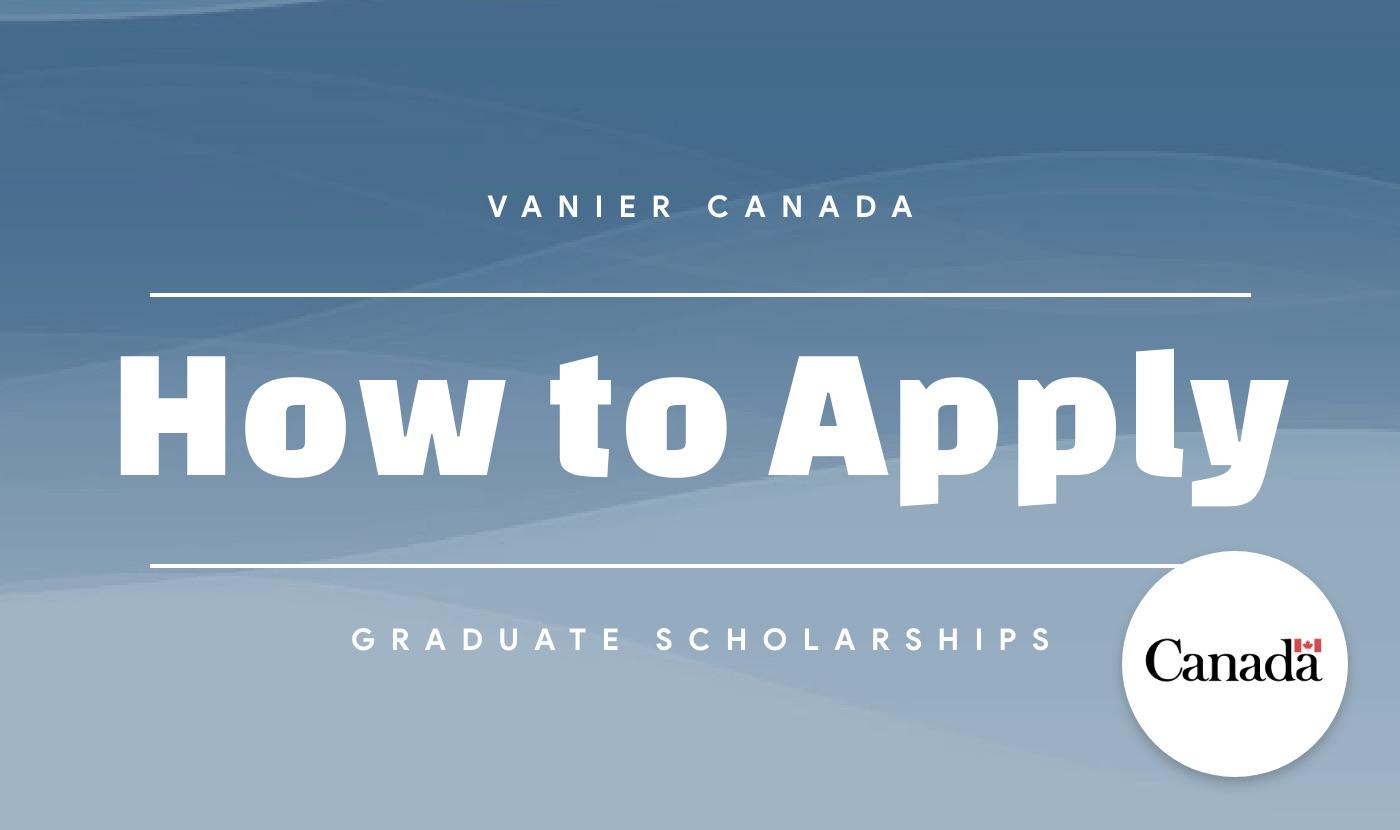 vanier cgs how to apply