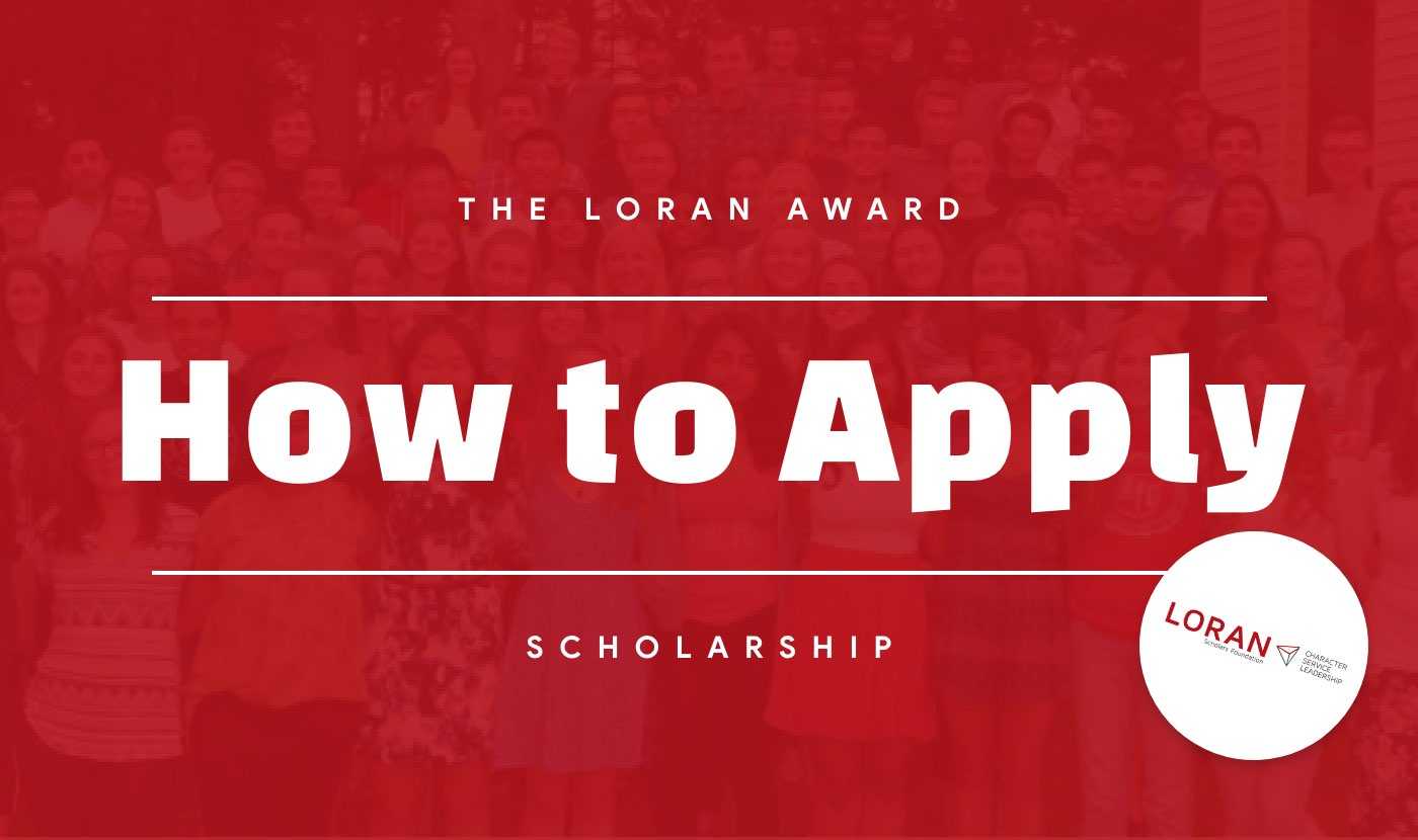 loran scholarship, loran scholar, how to apply