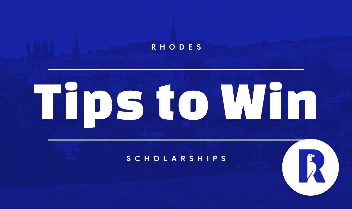 rhodes scholarship tips