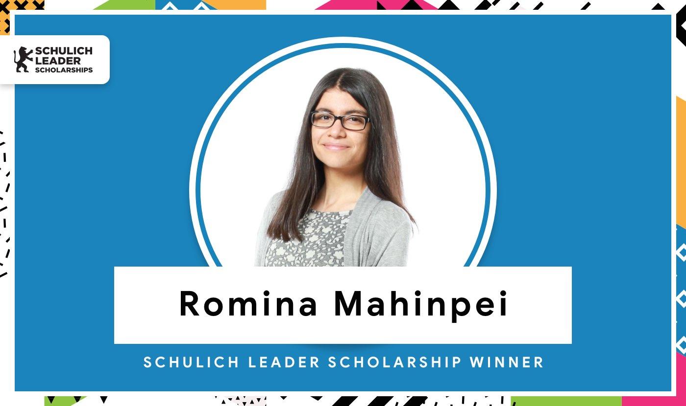 Schulich Leader Scholarship winner Romina Mahinpei