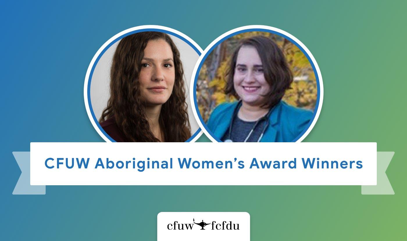 CFUW Aboriginal Women's Award winners