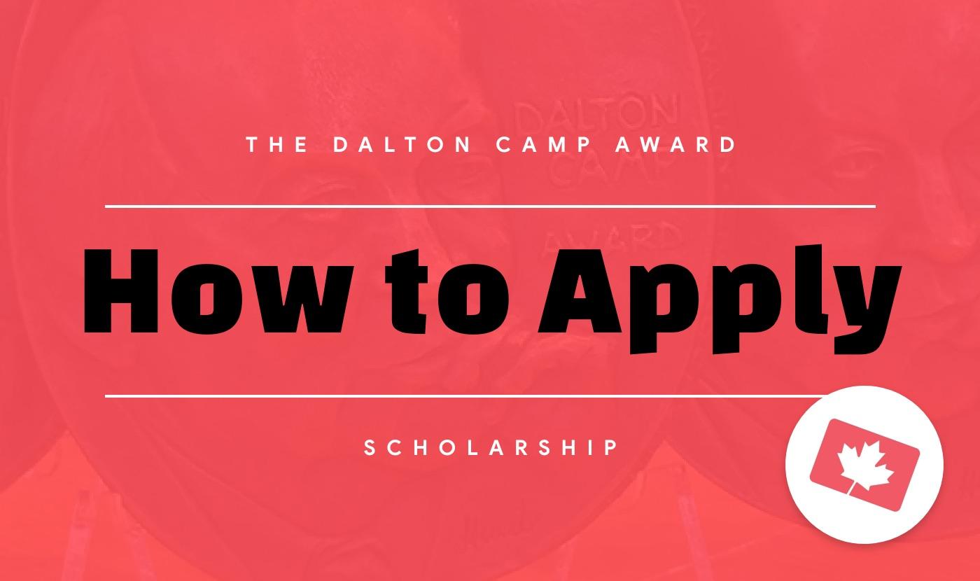 apply for the dalton camp award