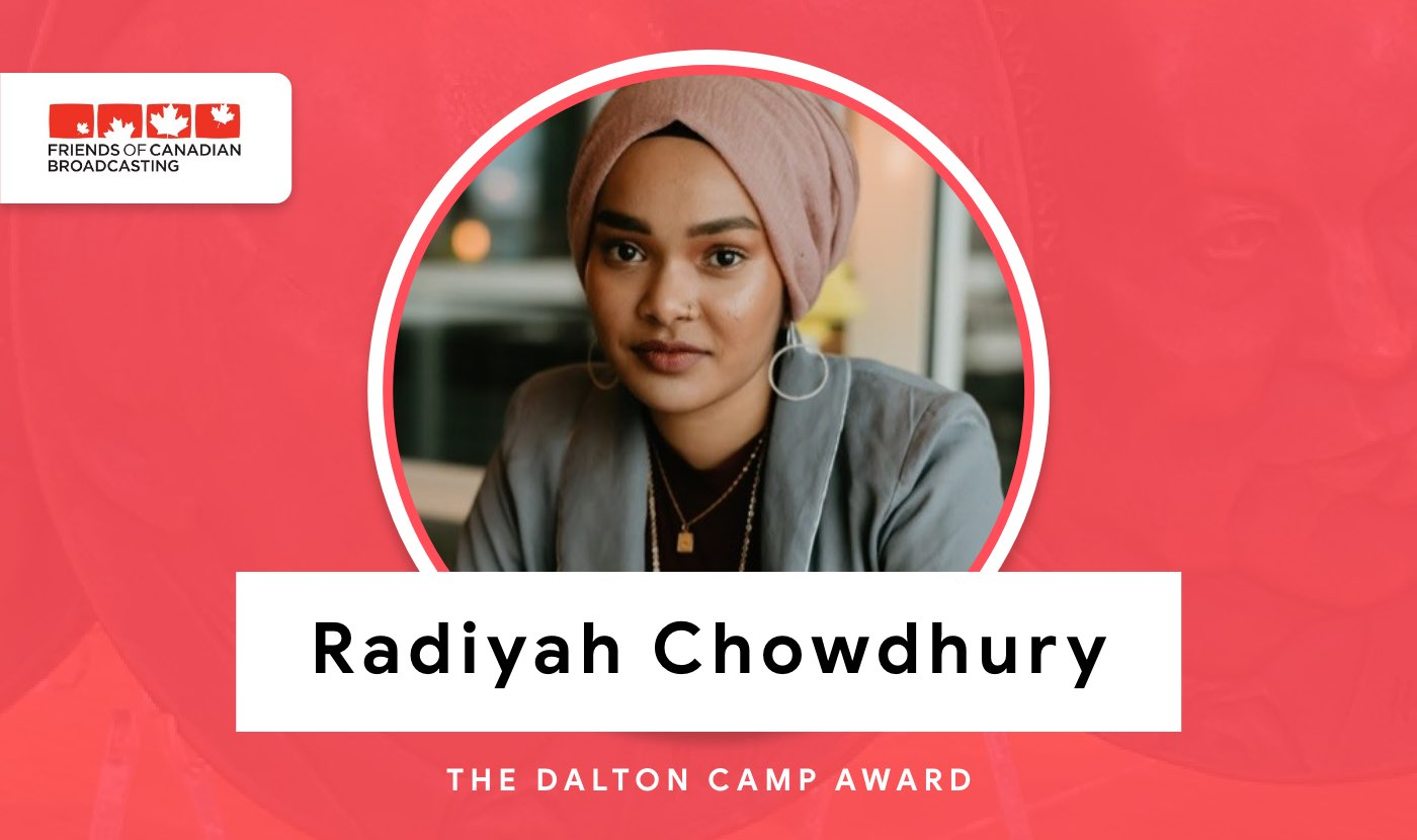 radiyah chowdhury dalton camp award winner