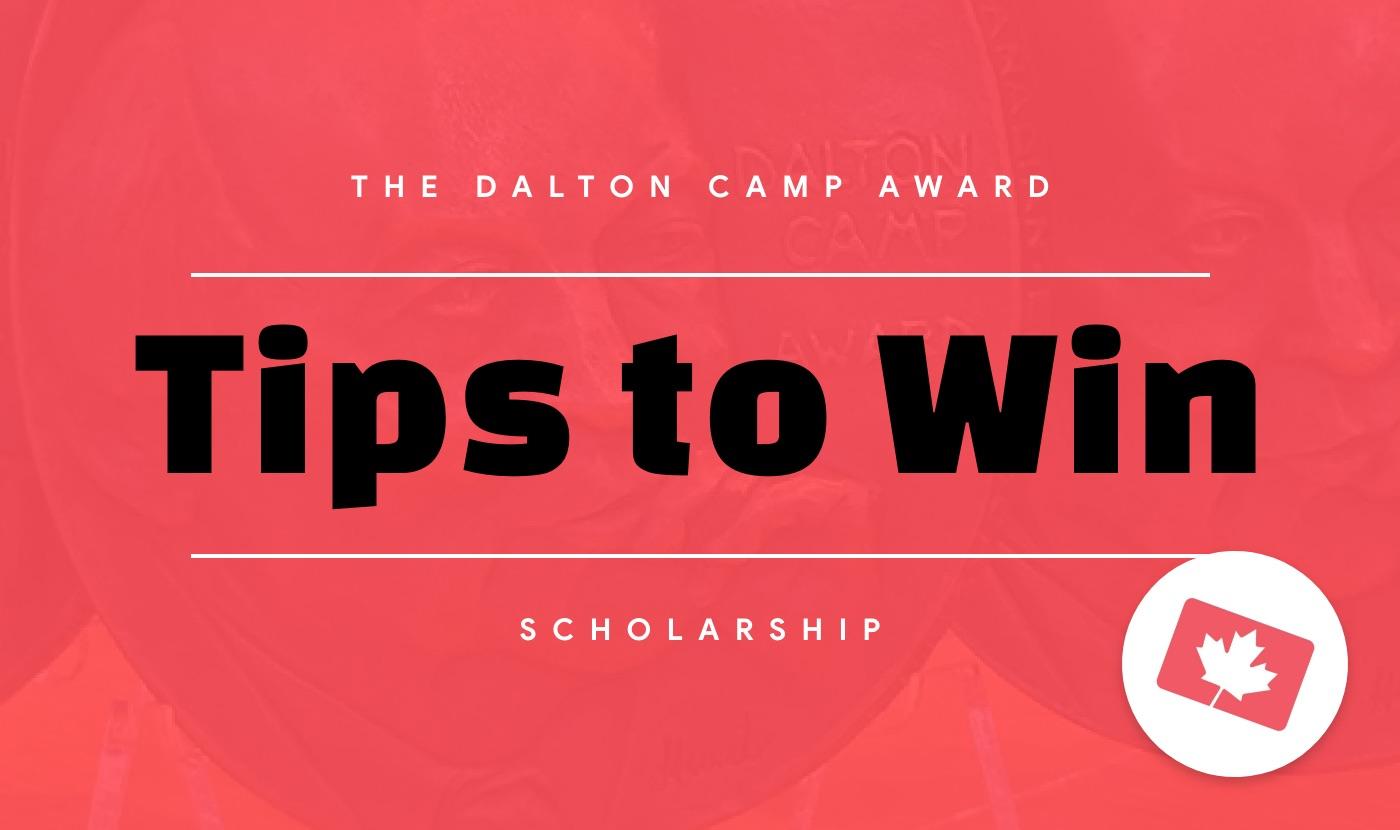 tips to win the dalton camp award